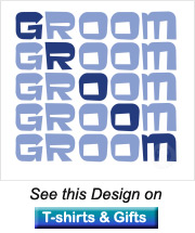 groom gifts with the word groom in blue