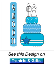 groom products design is blue wedding cake