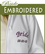 embroidered bride apparel