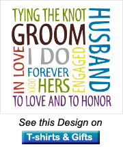 groom gifts design is words formed in a square