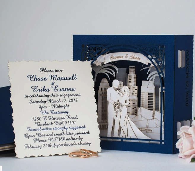 pop-up wedding invitation