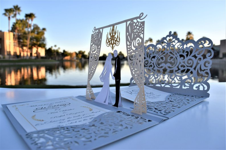 pop up wedding invitation