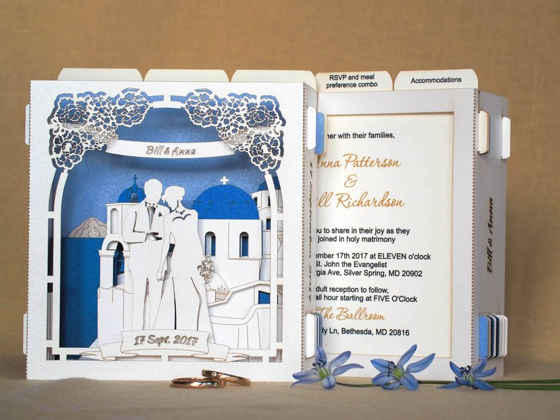 wedding invite greece