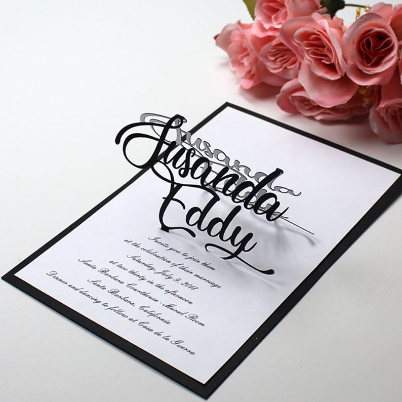 3d wedding invitation