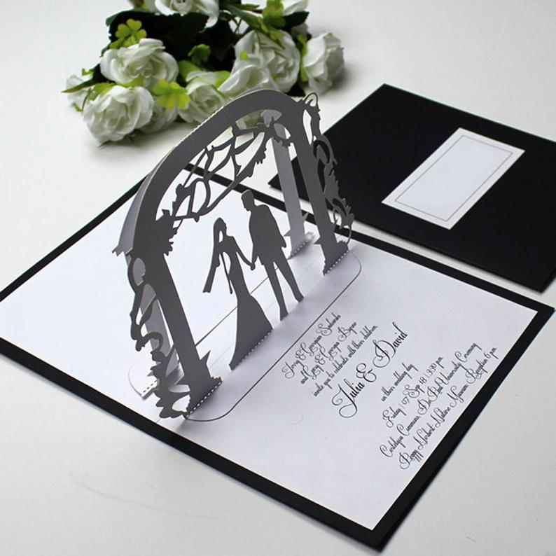 wedding arbor invitation