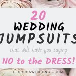 20 wedding jumpsuits that will have you saying no to the dress
