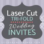 tri fold laser cut wedding invitations