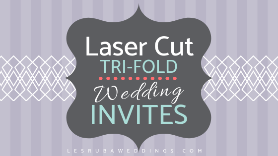 tri fold laser cut wedding invitations